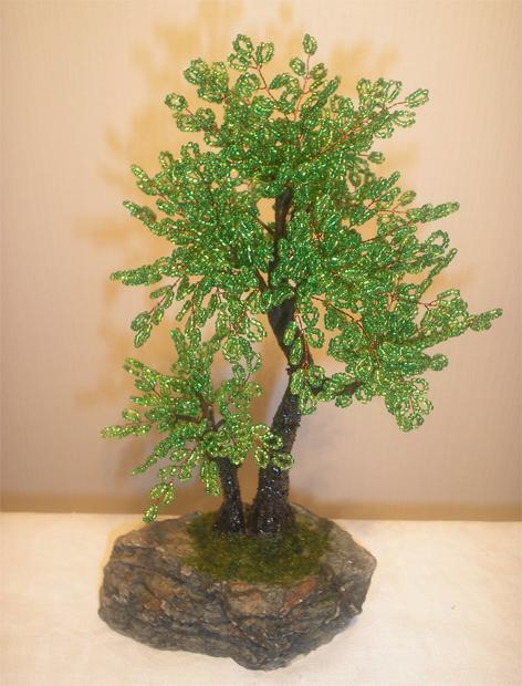 дерево банзай из бисера